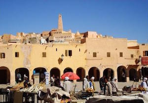 Colourful market square in Ghardaia, Algeria