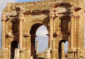 Superb Roman arch in Timgad, Algeria